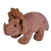 dinoknuffel Triceratops 20 cm bruin