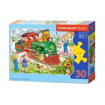 legpuzzel Green Locomotive 30 stukjes