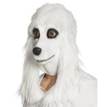 verkleedmasker Poedel met haar unisex wit one size