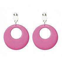 oorbellen hippie roze
