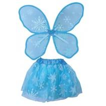 feeën accessoireset 2-delig meisjes blauw