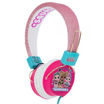 koptelefoon LOL Surprise Squadgoals roze glitter junior