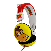 koptelefoon Donkey Kong rood/wit/geel junior