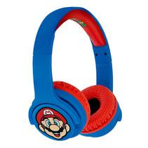 koptelefoon bluetooth Super Mario blauw/rood junior