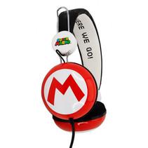koptelefoon Super Mario Icon rood/wit junior