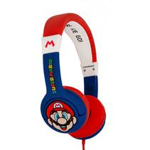 koptelefoon Super Mario rood/blauw junior