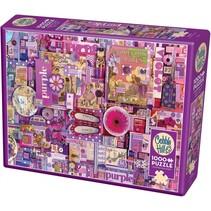 Legpuzzel paars 1000 stukjes