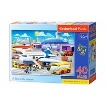 vloerpuzzel A Day at the Airport 40 stukjes Maxi