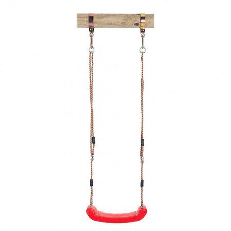 Swing King schommelzitje kunststof 42 x 16 cm rood