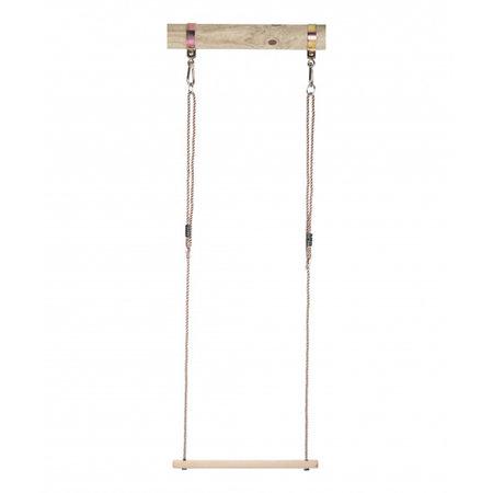 Swing King trapeze hout 58 cm lichtbruin