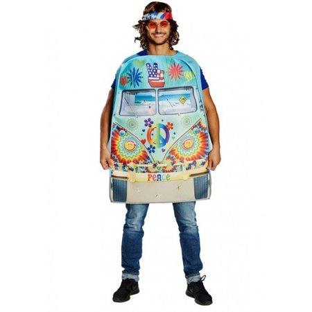 Rubie's verkleedkostuum Hippiebus heren multicolor one size