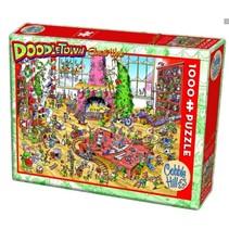legpuzzel Doodletown Elves at Work 1000 stukjes