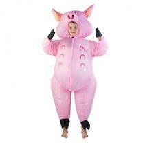 Inflatable Pig Costume roze junior