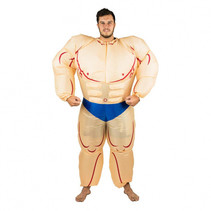 Inflatable Muscleman Costume