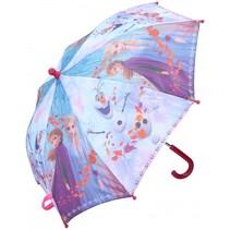 Frozen paraplu 65 x 55 cm roze/paars