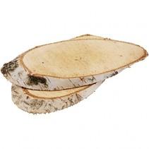 houten boomstamschijven 15x9x0,2 cm 7 stuks