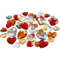strasstenen harmonie 6x9x12mm harten rood 360 stuks
