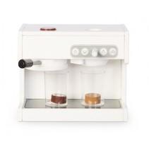 houten espressomachine 23,5 cm wit