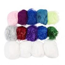 fibers Metalic diverse kleuren 500 gram 14 stuks