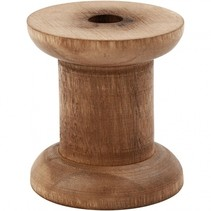 spoelen Vintage hout 30/48 x 50 mm bruin 10 stuks