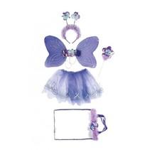 verkleedkostuum vlinder meisjes one size paars 5-delig