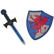 schild met zwaard ridder 2-delig
