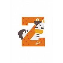 dierenletter Z 10 cm oranje