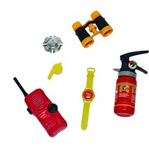 brandweerset 6-delig rood/geel