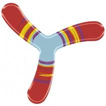 zachte boomerang rood 22,5 cm