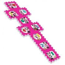 vloerpuzzel Minnie Mouse roze 9-delig