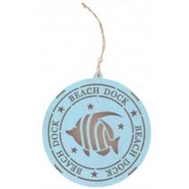 decoratiehanger led Beach dock vis 14,5 cm blauw