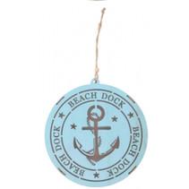 decoratiehanger led Beach dock anker 14,5 cm blauw