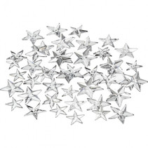 strasstenen sterren 11x12x16mm zilver 360 stuks