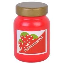 pot aardbeienjam hout 6 cm rood