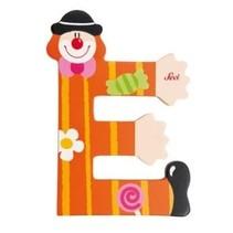 Letter E Clown oranje 10 cm