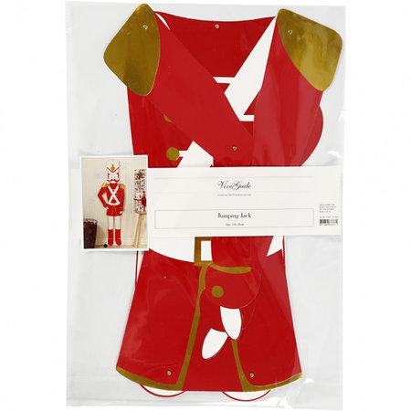 Vivi Gade knutselset Notenkraker 30 cm karton rood/wit/goud
