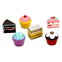 speelgoedcake-set 6-delig 4 cm
