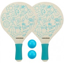 beachball set Paradise 4-delig blauw