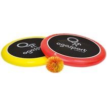 vang- en werpspel 29 cm rood/geel