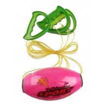 trekbalspel 16 cm roze/groen