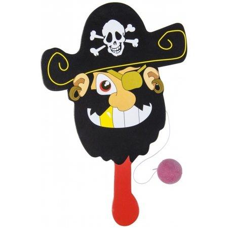 LG-Imports racket met bal piraat rood/zwart