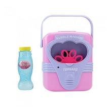 bellenblaasmachine met muziek 18,5 cm roze