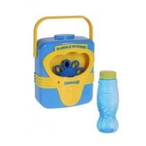 bellenblaasmachine met geluid 18,5 cm blauw