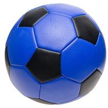 voetbal junior 22 cm blauw