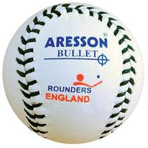 rounders bal Bullet 19,5 cm leer wit
