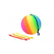 Regenboogbal met keycord