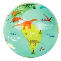speelbal dinosaurussen 10 cm groen