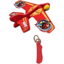 katapult vliegtuig Avengers: Ironman 12 cm rood/geel