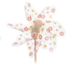 windmolen bloemen oranje Ø28 cm transparant