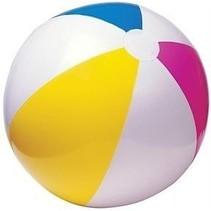Strandbal 61 cm geel/blauw/roze/wit